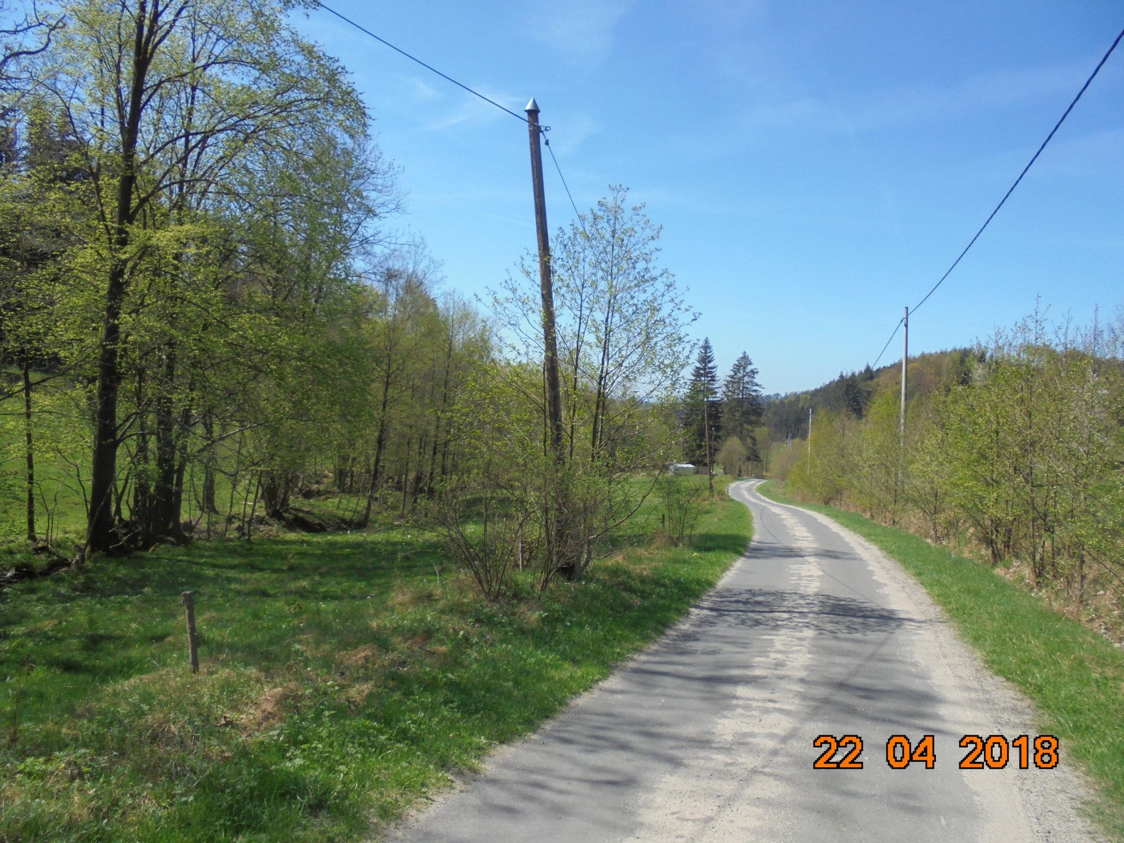 asfalt w Wójtówce - droga na Borówkową
